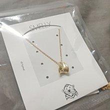 小美M.H-全新日本購回SMELLY設計款金色項鍊