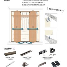 【喬園】日本村越精工折疊拉門五金組FDA-1,拉門五金,拉門吊輪