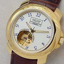 《寶萊精品》BULOVA 寶路華金乳白自動男子錶