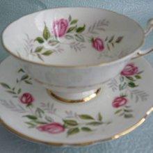 PARAGON玫瑰彩繪骨瓷咖啡杯