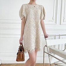 夏季新款 黑米兩色滿版蕾絲洋裝  [Classique*真經典] 041204
