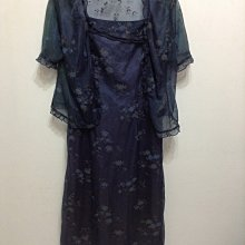 百貨專櫃傑瑟夫&堤娜 JOSEPH&TINA 深藍色底印花細肩帶洋裝M號