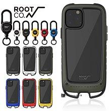 日本 ROOT CO iPhone 11 / Pro / Pro Max 雙掛勾式軍規防摔手機保護殼+登山扣環 喵之隅