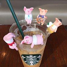 整組含運888元~STARBUCKS中國星巴克咖啡2019生肖豬年周邊商品-金豬報喜杯緣子~整組有5款
