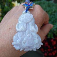 天然緬甸玉a貨 白菜擺財玉雕 翡翠料紫 超美 布繩項鍊 掛件