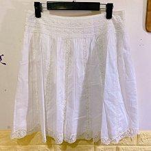 白色蕾絲氣質裙子 E