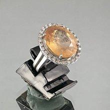 順利當舖  11.09ct 錫蘭產特級天然大顆黃寶石女鑽戒