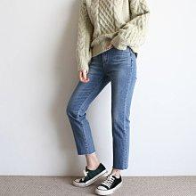 girlmonster 正韓 下擺不收邊 彈性牛仔褲 【A0635】