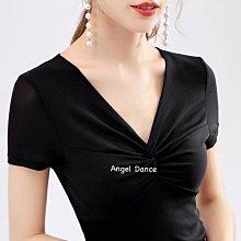 *Angel  Dance*日系網紗短袖上衣(5色)@韓國 法式優雅 甜美性感 彈性大 V領 扭結 打底衫@現貨+預購