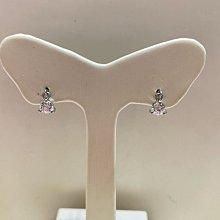 白K金鋯石耳環,簡單耐看款式適合平時配戴,超值優惠價1980元