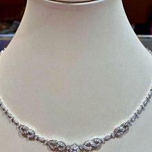 總重2.55克拉天然鑽石項鍊,手工訂製高級珠寶,兩用款式套鍊,鑑賞價138000元,搭配211顆高等級超亮小鑽,只有一個值得收藏,純正18K金