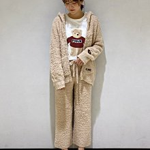 G412軟綿綿 泰迪熊 連帽外套+長褲 套裝   情侶套裝 居家服套裝  親子套裝   gelato pique 女款