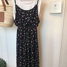正韓 小碎花洋裝 兩件式背心長洋 氣質優雅 韓國製