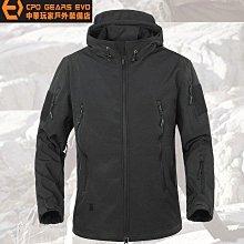 《中華玩家》V4型鯊魚皮軟殼外套/戶外衝鋒衣(複刻潛行者款)-【BK~黑色/尺碼XL】**隨機附贈小膠章**