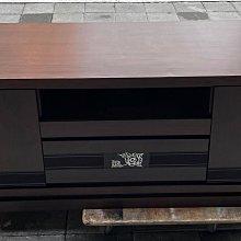 【樂居二手家具】台中全新中古傢俱家電最便宜 A0717CJC 胡桃六尺電視櫃*皮沙發 客廳家具 布沙發 泡茶桌椅台北新竹