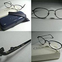 信義計劃 眼鏡 全新真品 Chloe 義大利製 光學眼鏡 槍色 水綠色 小貓型框 橢圓框 eyeglasses