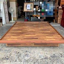 香榭二手家具*全新精品 工業風積層木標準雙人5x6.2尺後掀床架-附有安全裝置-收納掀床-六分板床箱-床組-床底-床板