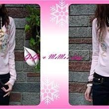 GoGo&MeMe ~刺繡花朵珍珠扣短版針織外套