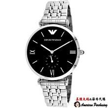 美國大媽代購 EMPORIO ARMANI 亞曼尼手錶 AR1676 鋼帶石英腕錶簡約兩針手錶 腕錶 歐美代購