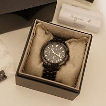 agnes. b 三眼計時腕錶 原廠錶盒配件齊全 20161221購入/於鐘錶行保養保固一年