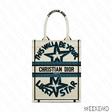 【WEEKEND】 DIOR Vertical Book Tote Lucky Star 購物包 托特包 白色
