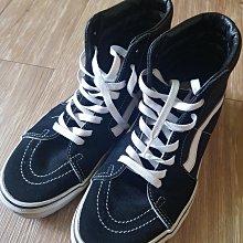 二手 Van's 范斯 黒白色 麂皮 復古 高筒靴 高筒鞋 休閒鞋 滑板鞋 男女 27.5cm