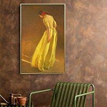 C - R - A - Z - Y - T - O - W - N 美國藝術家人像油畫掛畫意境古典人物美式客廳壁掛裝飾畫