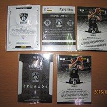 網拍讀賣~Brook Lopez~籃網隊球星~羅培茲~國寶限量厚版球衣卡/99~藍金十字軍限量卡/199~平行亮卡~普特
