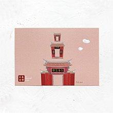 卡片 明信片*畫話臺南-全臺首學*不哭鳥