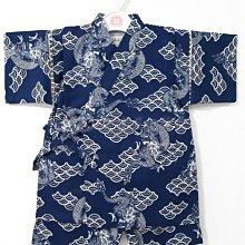✪胖達屋日貨✪ 褲款 110cm 海軍藍底 龍神 青海波 日本 男 寶寶 兒童 和服 浴衣 甚平 抓周 收涎 攝影