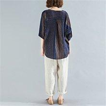舒適好穿的寬鬆顯瘦棉麻衫.萌蔓物語【KX2537】韓氣質女上衣