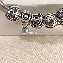 Pandora 925銀 絕版棕色鋯石復古蕾絲花串飾