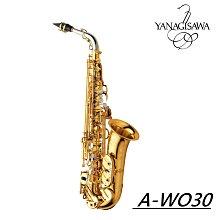 ♪ 后里薩克斯風玩家館 ♫『YANAGISAWA A-WO30 ALTO SAX』日本手工純銀製.加贈原廠配重螺絲