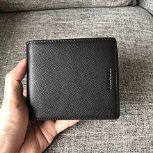 空姐精品代購 COACH 74771 新款男士十字紋牛皮防刮皮夾 錢包 內置零錢袋 多卡位 附代購憑證