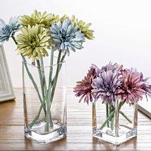 ih-小野店#現代簡約創意花瓶透明玻璃方缸客廳辦公室餐桌裝飾玻璃花瓶擺設#花瓶#花藝#假花#