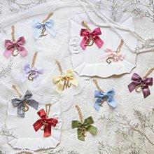 Y53Maison de fleur  蝴蝶結字母吊飾 掛件 鑰匙圈