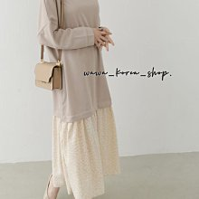正韓:長版長袖洋裝(2色)