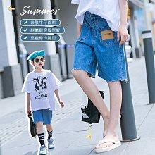 小圖藤童裝~~~中大童~~~女童牛仔短褲2021夏季新款薄款褲子中大五分褲中褲(A3662)