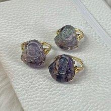 A好貨-天然 螢石 彌勒佛 戒指 不是925純銀 活圍 冷翡翠 現貨 實拍