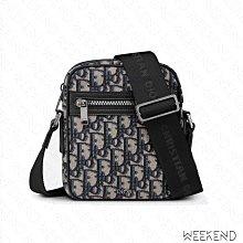 【WEEKEND】 DIOR Clutch Oblique Jacquard 老花 肩背包 斜背包 米色 黑色