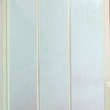 [勞倫斯衛浴-淋浴拉門]乾溼分離實用型白框一字三門PS板淋浴拉門(含丈量+施工)衛浴設備淋浴拉門