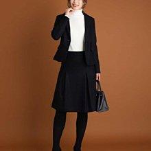 全新日本品牌 MK MICHEL KLEIN100%黑色毛料裙L號(同INED, 23區, ICB, ef de)