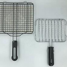 金屬陶瓷雙層燒烤網+簡易型烤魚夾 (工廠直送,一定有現貨)