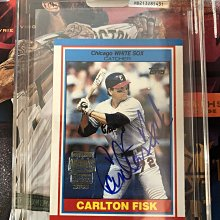 2018 MLB Topps Archives Signature 白襪隊 Carlton Fisk 親筆簽名卡 1/1