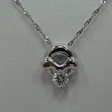 (板信當舖流當品)  造型 31分 F色 鑽石 墜子 PS219