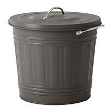 ☆創意生活精品☆IKEA KNODD  垃圾桶 32cm高(灰色) [此商品需要自行組裝]