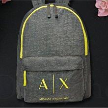 真品灰色 AX 阿曼尼 A|X Armani Exchange backpack  防水 肩背包 拉鍊 後背包 男女適用