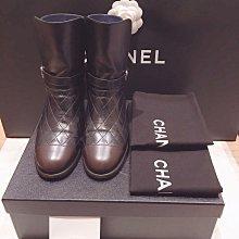 已售出CHANEL基本款雙C SHORT BOOTS短靴?37號