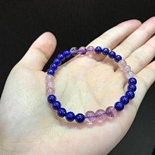 6mm青金石x6mm粉晶x7mm紫水晶