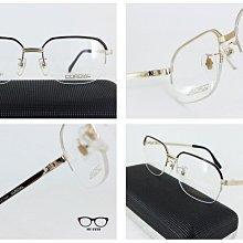 【My Eyes 瞳言瞳語】CORDIAL 頂級鈦紳士款 金/鐵灰/褐/咖啡雙色大半框眼鏡 經典不敗 日本製 (206)